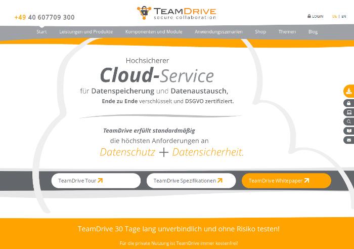 Screenshot von TeamDrive