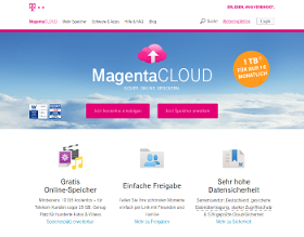 Screenshot: Telekom MagentaCLOUD - Populärer Cloud-Anbieter